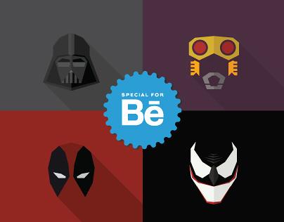 Masks of SuperHeroes (Set #2)