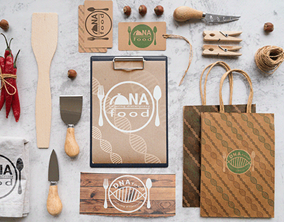 DNAfood. Catering dietetyczny. Logo and firm style
