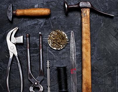 Shoemaker tools.Vintage