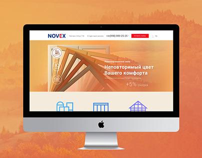 Landing page Novex