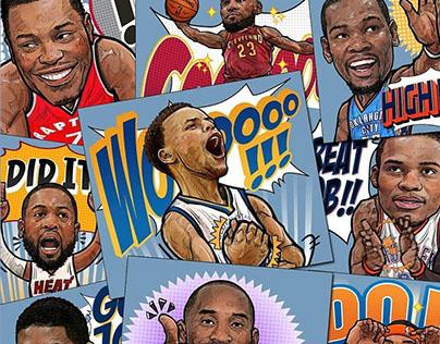 NBA X LINE STICKER / NBA SUPER STAR