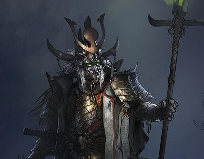 High fantasy samurai