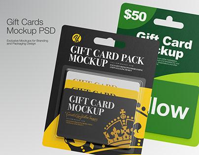 Gift Cards Mockup