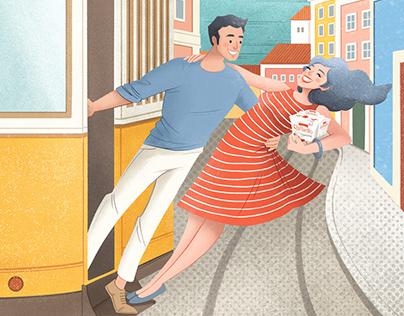 Illustration: RAFFAELLO 'FRIENDS IN LISBON'