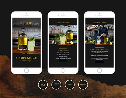 Kikori Whiskey Social Media Design