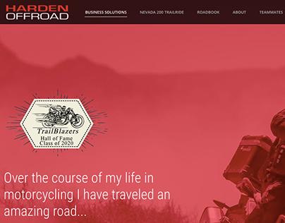Harden Off Road Website | Daniel Gysel