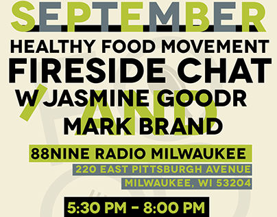 Healthy Food Movement September Event Poster