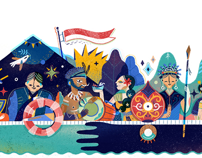 Google Doodle - Indonesia Independence Day 2017