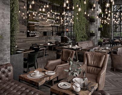Qatar Calm Street Cafe