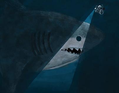 Shark Week - Digital Illustrations