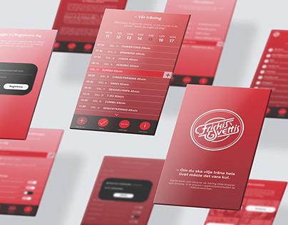 Branded app design UX/UI