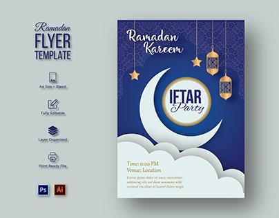 Ramadan Iftar PartyFlyer Template Design
