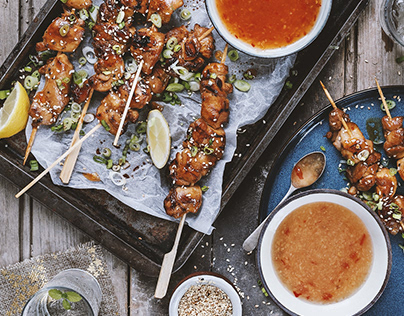 Honey & Sesame Skewers