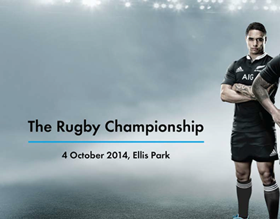 Editorial Design: All Blacks Rugby Championship 2014