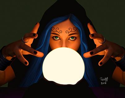 Light study - Fortune teller