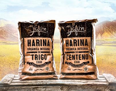 Organic Flour Packaging design.