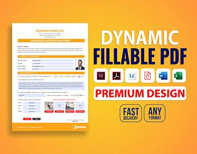Design & Develop Dynamic fillable PDF form
