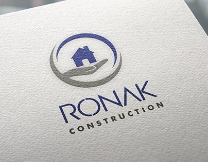 Ronak Construction Branding & Stationery Design