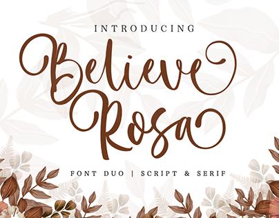 Believe Rosa | Font Duo