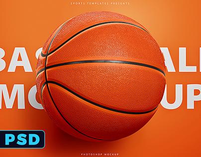 Basketball Ball Mock-Up Template