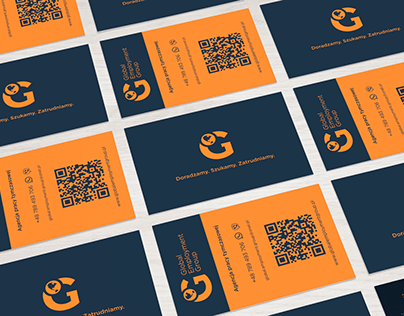 Global Employment Group logo and business cards