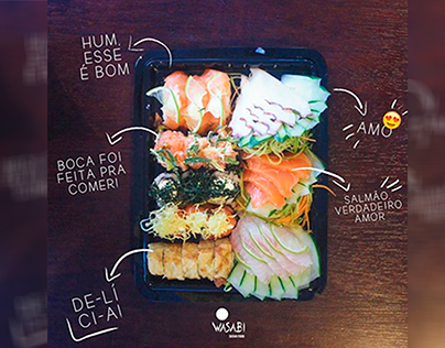 CONTEÚDO - Wasabi Sushi Food