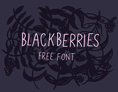 Blackberries- A sweet, free font