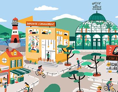 Le Quartier Animafac | Illustration
