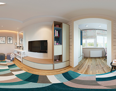 VR 360 Young lady room