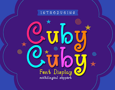 Cuby Cuby Font Display