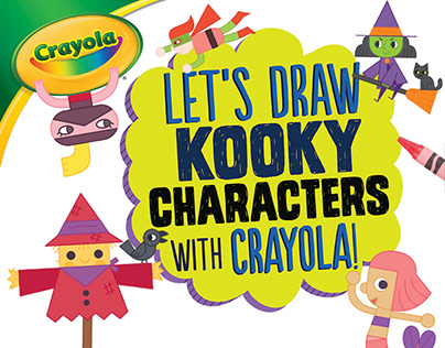 Let's Draw Kooky Characters with Crayola