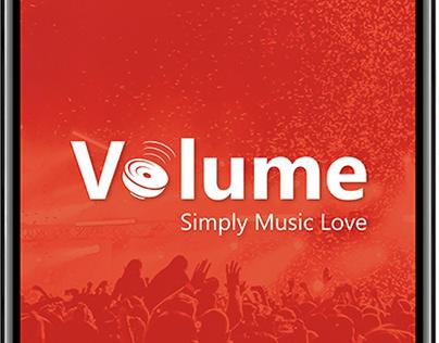 Volume Music App Design option