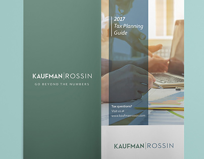 2017 Tax Planning Guide brochure design