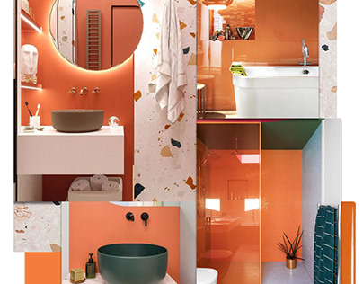 Orange Terazzo Bathroom