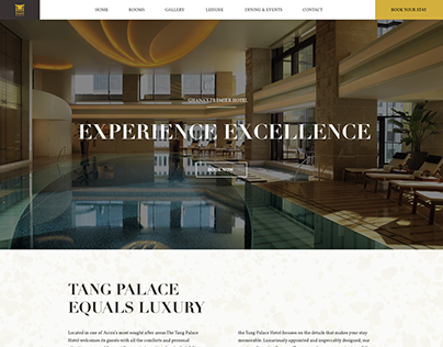 Tang Palace Hotel Website UI Design