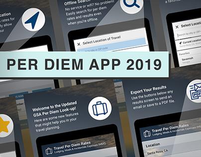 GSA Per Diem Mobile App