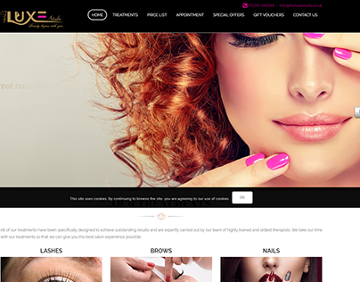 LUXE Studio website developed by us