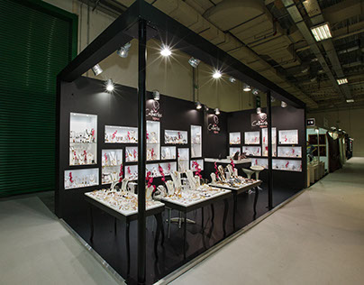 "Exhibition Booth for ""Catherine Bijoux"" company"