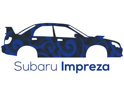 Subaru Impreza Flat design.