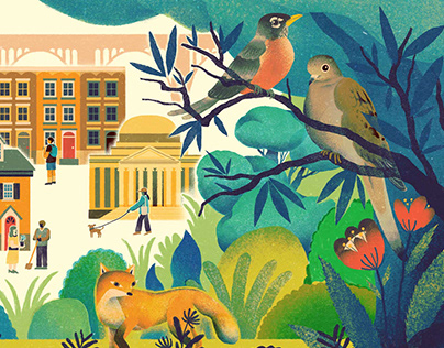 Humanities Magazine Cover Illustration