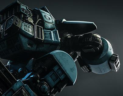 ED-209 Robocop Robot 3D Model