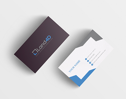 Business card for 3d scanning