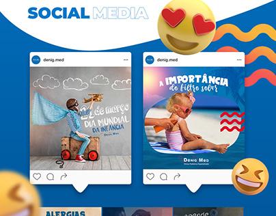 Site + Social Media - Clínica Pediátrica
