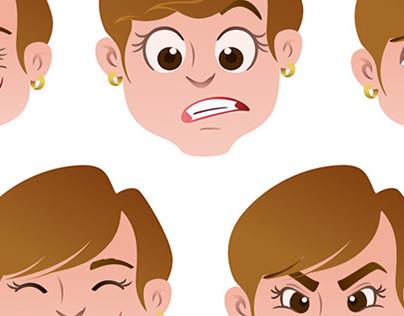 Ilustração de personagem para animação.