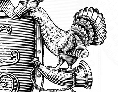 """Coat of arms and logo """"Krasny Bor"""""""