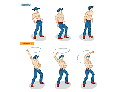 Dance steps inspired by the Magic Mike XXL film