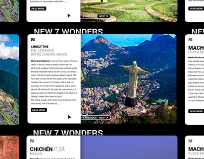UI Design Idea Exploration-New 7 Wonders