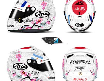 Sacha Fenestraz (SuperGT) Finale Helmet