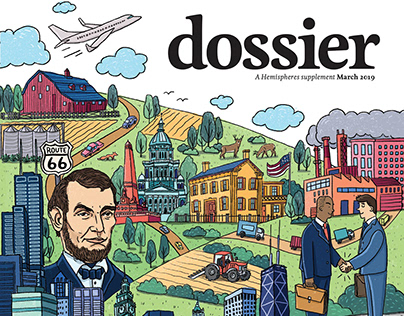 Dossier magazine cover illustration