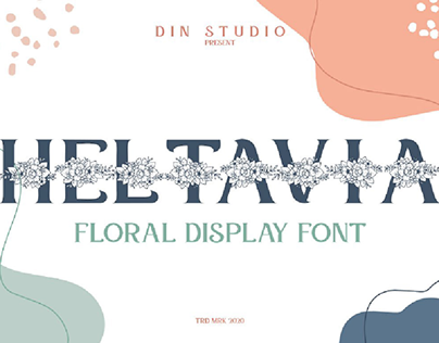 Heltavia-Floral Display Font